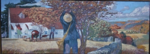 autumn oil on canvas 16 inches x 44 inches 2014